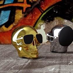 AeroSkull Nano Bluetooth speaker, H7.6 x W6 x D7.5cm, chrome gold