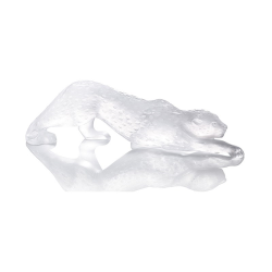 Zeila Panther figure, H11 x L36.5cm, Clear