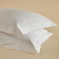 Crisp & Cool Organic - 400 TC Pair of oxford pillowcases, W52 x L77cm, White