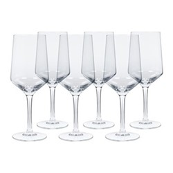 Hoxton Set of 6 white wine glasses, H22 x W8.5cm, clear