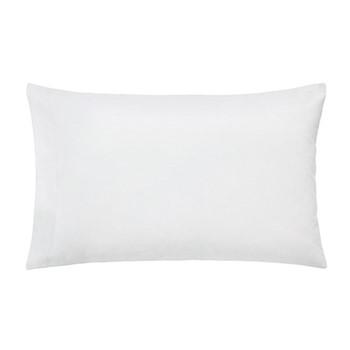 300 Thread Count Plain Dye Blue Hotel Standard pillowcase, L48 x W74cm, white