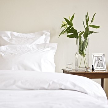 Classic - 400 Thread Count Emperor size duvet cover, W300 x L240cm, white sateen cotton