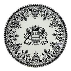 Les Depareillées - Blason Set of 6 dessert plates, 22cm, black