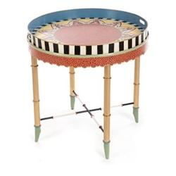 Boheme Tray table, D62.32 x H63.5cm, multi