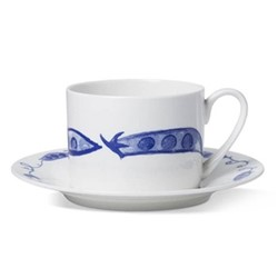 Pea Pod Coffee cup and saucer, H6 x D8.5cm cup - 16cm saucer