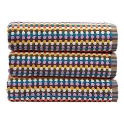 Carnaby Stripe Pair of bath towels, L70 x W137cm, multi