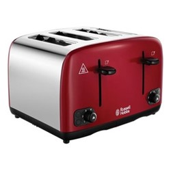 Cavendish - 24092 Toaster, 4 slice, red