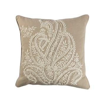 Riveria Cushion, 45 x 45cm, natural/ivory