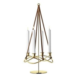 Season Candleholder extension, 60.8cm, gold