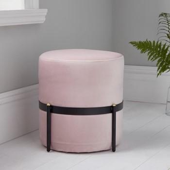 Stilts stool, L40 x W40 x D40cm, pink