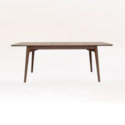 Walnut extending dining table H74.5 x W158 x D90cm