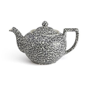 Burleigh Felicity Large teapot, black and white floral