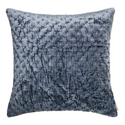 Embroidered Lux Cushion, 50 x 50cm, ocean