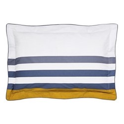Galley Grade Stripe Oxford pillowcase, L48 x W74 cm, comet