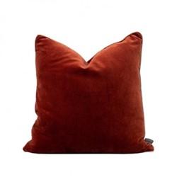Unari Velvet cushion, 50 x 50cm, rust