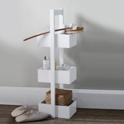 3-tier bathroom caddy, 84 x 22 x 26cm, White Wood