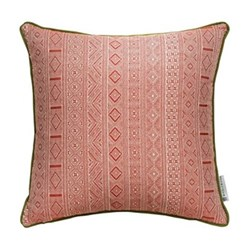 Halsey Cushion, 50 x 50cm, red green