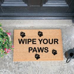 Wipe Your Paws Doormat, L60 x W40 x H1.5cm