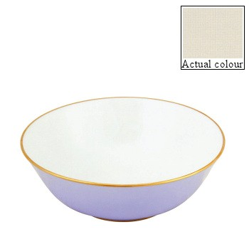 Sous le Soleil Open vegetable dish/salad bowl, 25cm, ivory with gold band