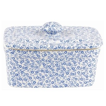 Felicity Rectangular butter dish, 400g, pale blue