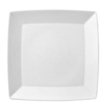 Loft Platter square angular, 22cm, white