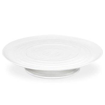 Ceramics Footed cake plate, 32 x 6cm, white