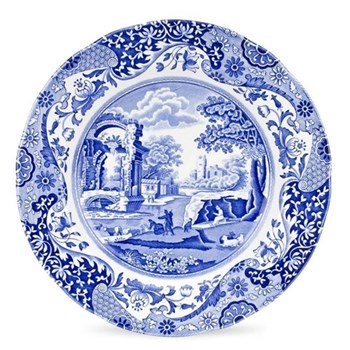 Blue Italian Set of 4 plates, 27cm