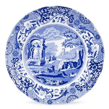 Blue Italian Set of 4 plates, 23cm