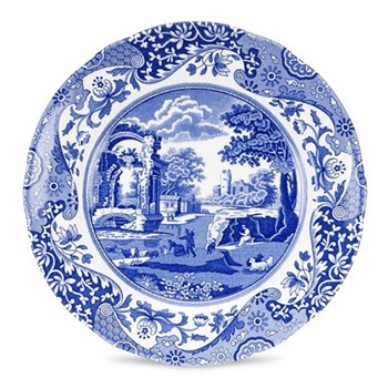 Blue Italian Set of 4 plates, 20cm