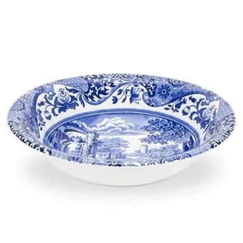 Blue Italian Set of 4 cereal bowls, 15cm