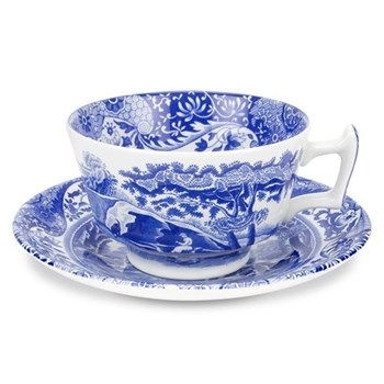 Blue Italian Set of 4 teacups and saucers, 20cl