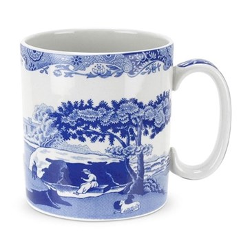 Blue Italian Set of 4 mugs, 25cl
