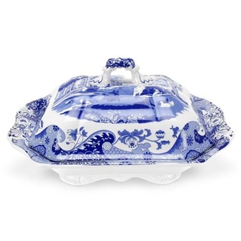 Blue Italian Covered vegetable dish, 3.4 litre