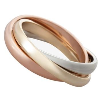 3 Rings Set of 4 napkin rings, tri-colour