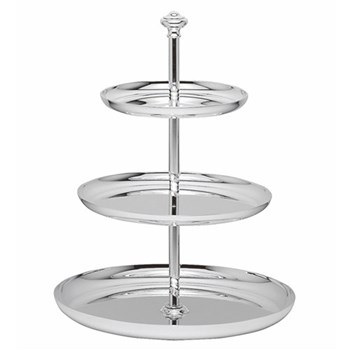 Albi Pastry stand, 3 tier, Christofle silver