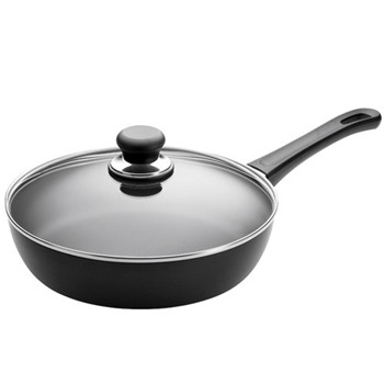 Classic Saute pan with lid, 26cm, ceramic titanium