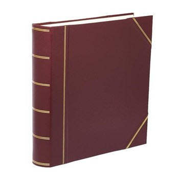 Classic Range Photograph album square with 70 leaves, 36cm, burgundy with gold corners