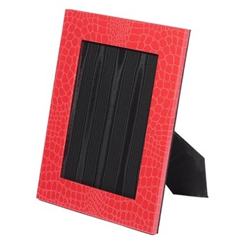 """Oyster Bay Photograph frame, 8 x 6"""", red croco"""