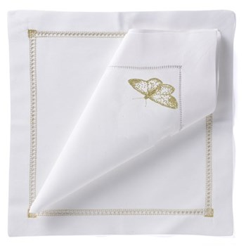 Butterfly Set of 4 napkins, 54 x 54cm, gold