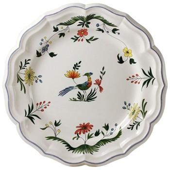 Oiseaux de Paradis Round deep dish, 31cm