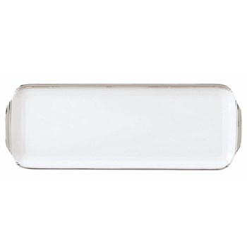 Excellence Rectangular cake platter, 16cm, grey