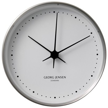 Henning Koppel Clock, 10cm, steel/white