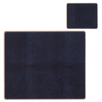 Lizard Black - Texture Range Set of 6 tablemats with frame line, 24 x 20cm