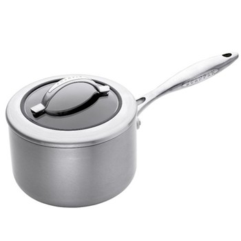 CTX Saucepan with glass lid, 16cm, ceramic titanium