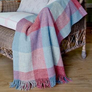 Shetland wool throw L180 x W145cm
