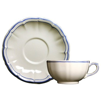 Filets Bleu Breakfast cup and saucer, 30cl - 18cm