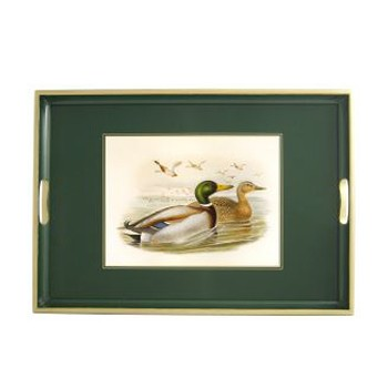 Gould Ducks - Traditional Range Traditional tray, 39.5 x 28cm, bottle green