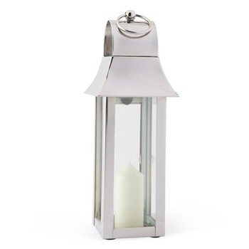 Tonto Lantern - extra small, glass and nickel plate