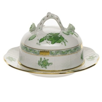 Covered butter dish with branch handle 15.5cm