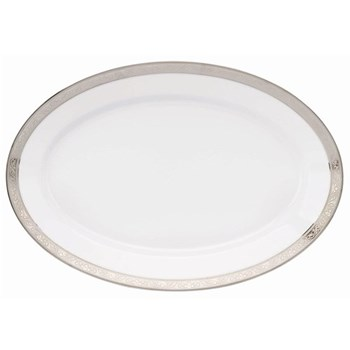 Royal Trianon Platinum Oval platter, 40cm